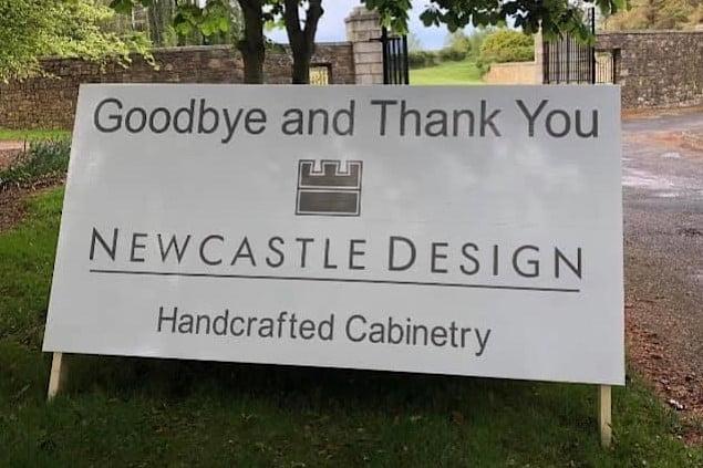 the shop sign board at newcastle design ltd